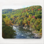 Ohiopyle River in Fall II Pennsylvania Autumn Mouse Pad