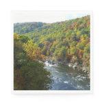 Ohiopyle River in Fall II Pennsylvania Autumn Napkin