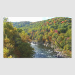 Ohiopyle River in Fall II Pennsylvania Autumn Rectangular Sticker