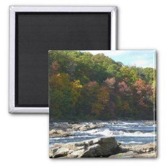 Ohiopyle River Rapids in Fall Pennsylvania Autumn Magnet