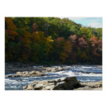 Ohiopyle River Rapids in Fall Pennsylvania Autumn Poster