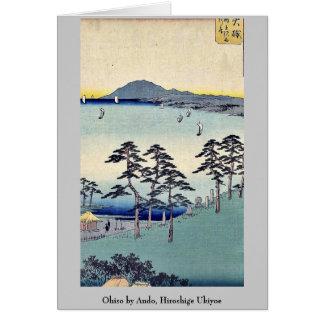 Ohiso by Ando, Hiroshige Ukiyoe Stationery Note Card
