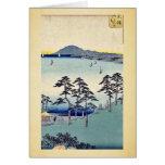 Ohiso by Ando, Hiroshige Ukiyoe Greeting Card