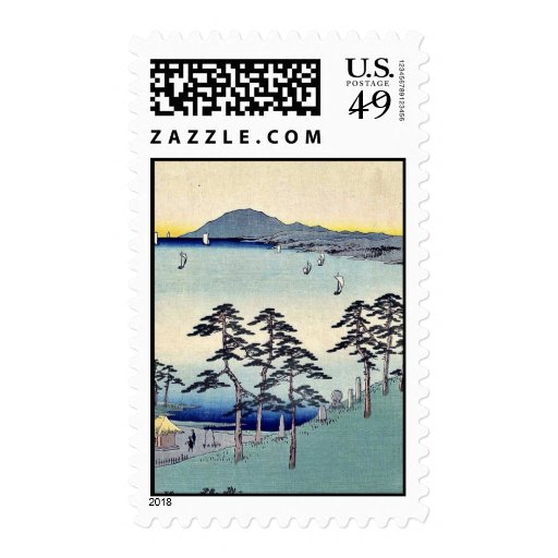 Ohiso by Ando, Hiroshige Ukiyoe Postage Stamps