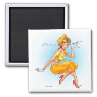 OhLaLa 2 Inch Square Magnet