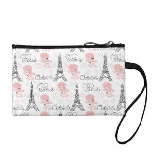 Ohlala Cute Paris Poodle and Eiffel Tower Pattern Coin Purse
