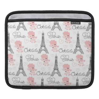 Ohlala Cute Paris Poodle and Eiffel Tower Pattern Sleeves For iPads