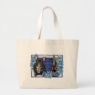 OhLaLa French Bulldog Tote Bags