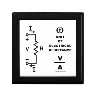 Ohm A Unit Of Electrical Resistance (Physics) Jewelry Box