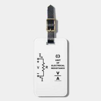 Ohm A Unit Of Electrical Resistance (Physics) Luggage Tag