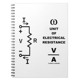 Ohm A Unit Of Electrical Resistance (Physics) Notebook