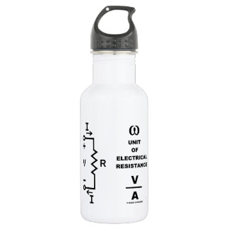 Ohm A Unit Of Electrical Resistance (Physics) Water Bottle