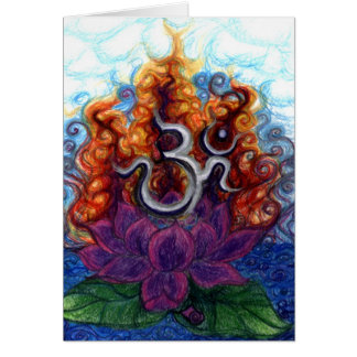 ohm floating greeting card