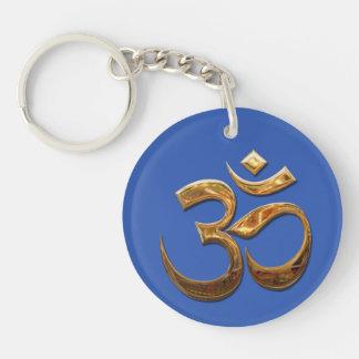 Ohm in gold keychain