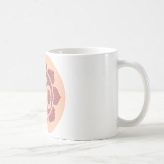 ohm lotus symbol classic white coffee mug