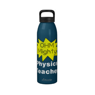 Ohm Mighty Physics Teacher Water Bottle