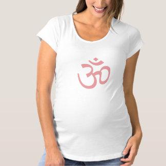 OHM, OM Namaste Yoga, Petal Pink Maternity T-Shirt