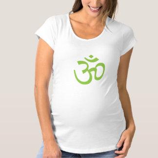 OHM, OM Namaste Yoga, Spring Green Maternity T-Shirt