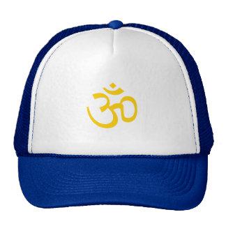 OHM, OM Namaste Yoga, Sunshine Yellow Trucker Hat