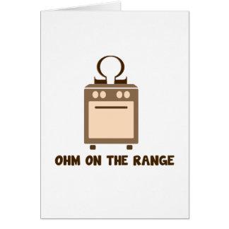 Ohm on the Range - Geek Humor Card