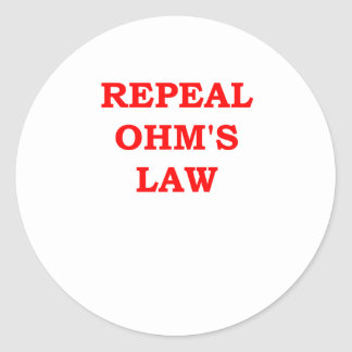 OHM.png Classic Round Sticker