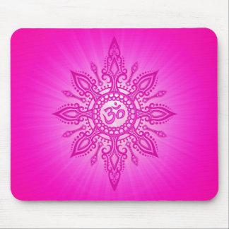 Ohm Star – pink Mousepad