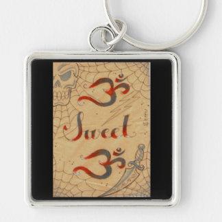 Ohm sweet Ohm keys by Dana Tyrrell Silver-Colored Square Keychain