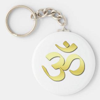 Ohm Symbol Basic Round Button Keychain