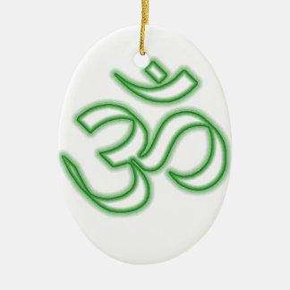 Ohm Symbol Ceramic Ornament