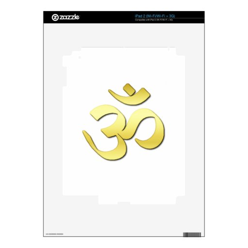 Ohm Symbol Decal For The iPad 2