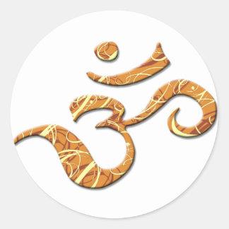 Ohm Symbol in Bronze (Sticker) Classic Round Sticker