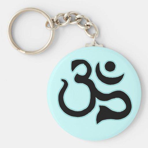 Ohm Symbol Keychain