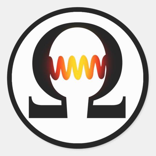 Ohm Symbol Sticker