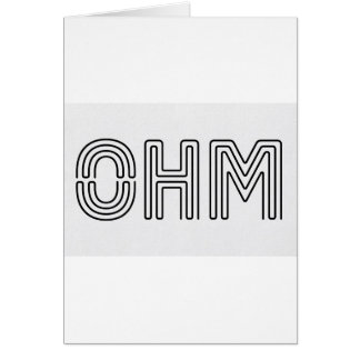 Ohm !!! Vapers know... Greeting Card