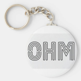 Ohm !!! Vapers know... Basic Round Button Keychain