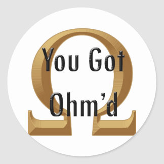 Ohmed Classic Round Sticker