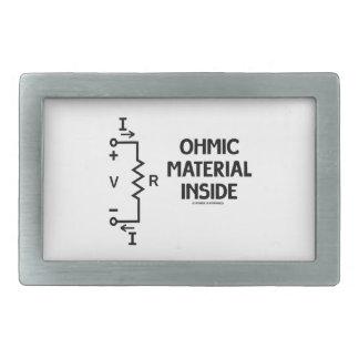 Ohmic Material Inside (Ohm's Law) Belt Buckle