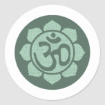 ohmio de la flor de loto pegatina