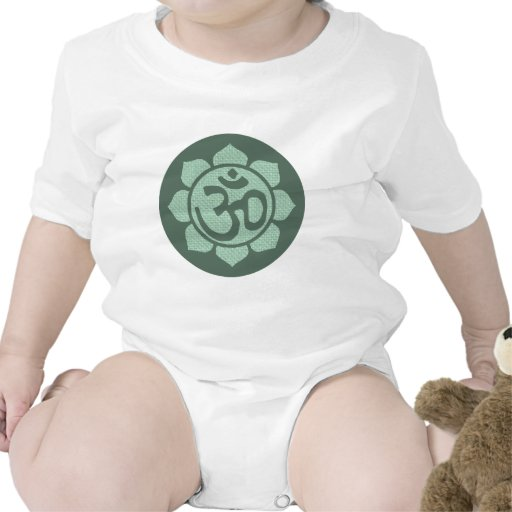 ohmio de la flor de loto traje de bebé