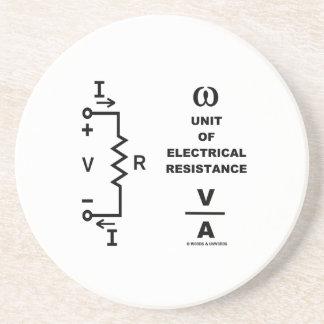 Ohmio una unidad de resistencia eléctrica (la posavasos manualidades
