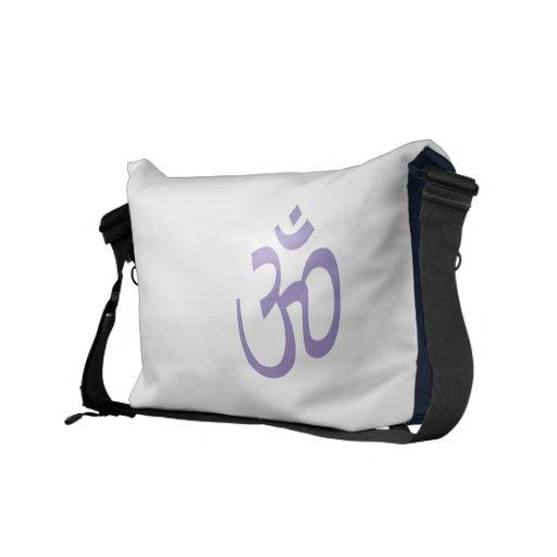 OHMIO, yoga de OM Namaste, púrpura de Lotus Bolsas Messenger