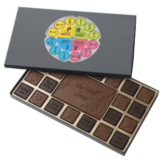 Ohm's Law Circle 45 Piece Assorted Chocolate Box