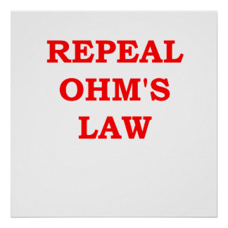 ohm's law poster