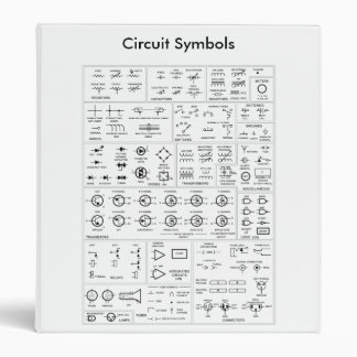 Ohm's Law, Resistor Color Code, Circuit Symbols 3 Ring Binder