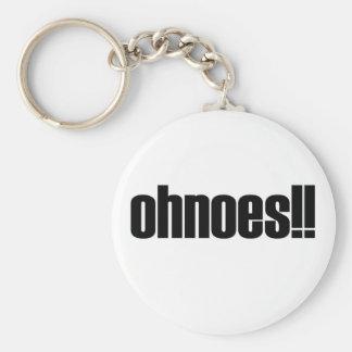 ohnoes!!! basic round button keychain