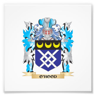 O'Hood Coat of Arms - Family Crest Photographic Print