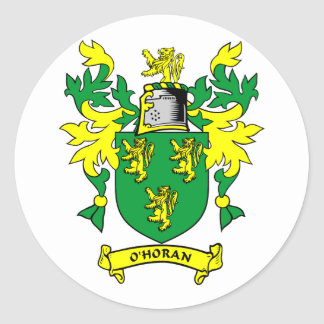 O'HORAN Coat of Arms Classic Round Sticker