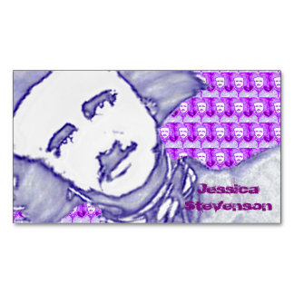 OhPoe (Purplish/Blue) Business Card Magnet