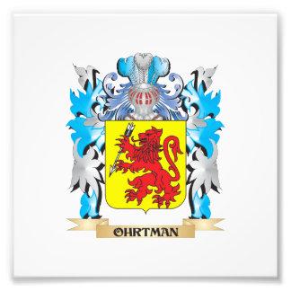 Ohrtman Coat of Arms - Family Crest Art Photo