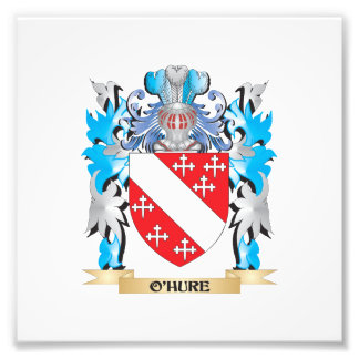 O'Hure Coat of Arms - Family Crest Photo Art